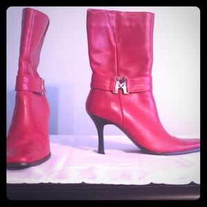 Bruno Valenti SZ 7 Red leather boots